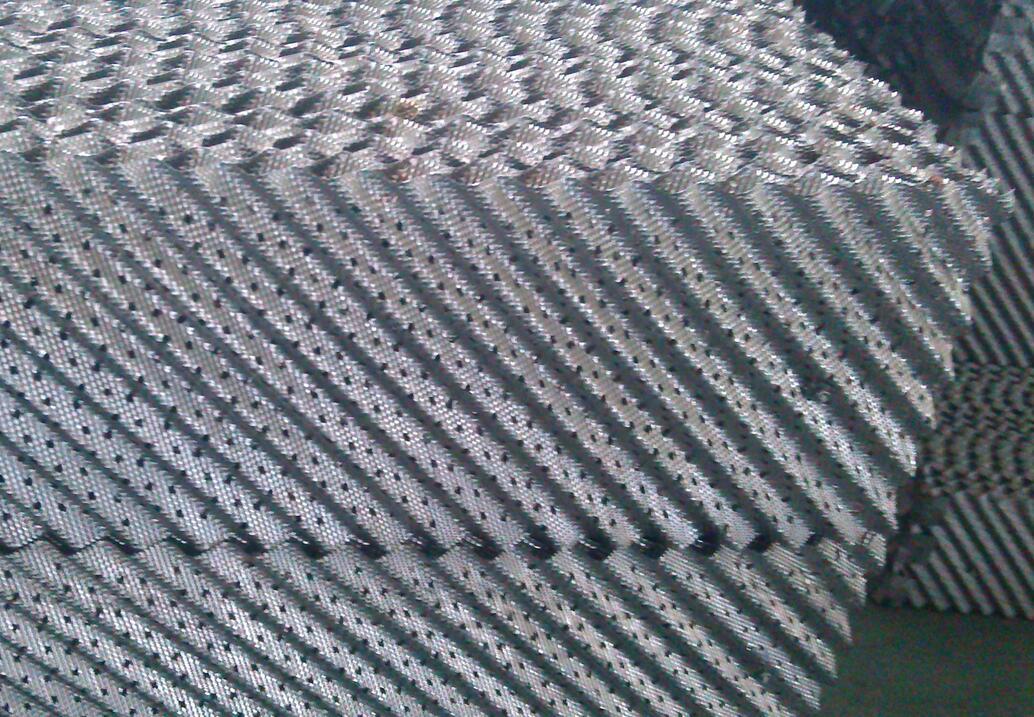 三好高速冲床金属孔板波纹填料连续全自动生产线